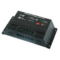 Контролер 10А 12/24В + USB гніздо (Модель-CM2024+USB)