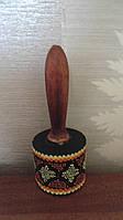 Маракас деревянный цветной Ломбок длина 19 см