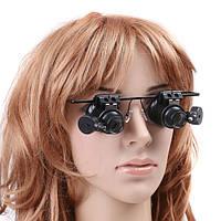 Светодиодные очки-лупа для ювелирных работ MAGNIFIER 9892A-II