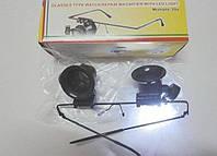 Лупа-очки бинокулярные 20х (рабочее расстояние: 1-2 см) (рабочее поле - 1 см2) с LED подсветкой MAGNIFIER 9892A-II