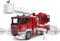 Игрушка Bruder большая пожарная машина SCANIA R-series с лестницей М1:16 (03590)