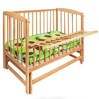 Детская кровать с откидной боковиной на шарнирах  Гойдалка
