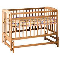 Детская кровать на шарнирах из натурального дерева бук Гойдалка