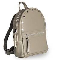 Кожаный рюкзак женский для активной молодежи jizuz sport beige-r Jizuz