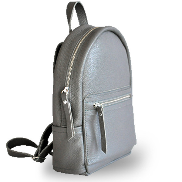 4ccda3b99ee0 Женский кожаный рюкзак темно-серый jizuz sport dark grey Jizuz - Omama.  Интернет-