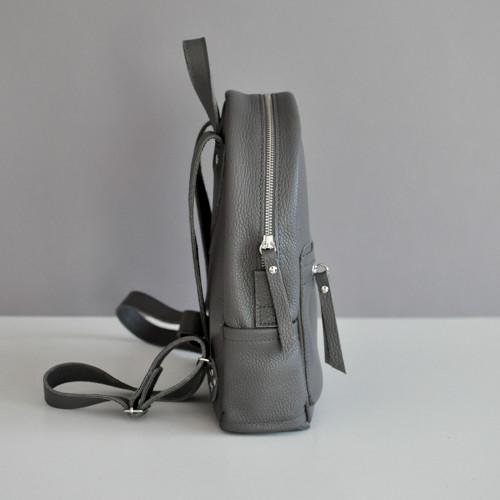 dde91607aeae Женский кожаный рюкзак темно-серый jizuz sport dark grey Jizuz, цена 1 635  грн., купить в Киеве — Prom.ua (ID#600567132)