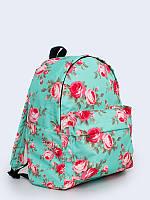 """Женский рюкзак с цветами """"мятные розы"""" Vilno"""