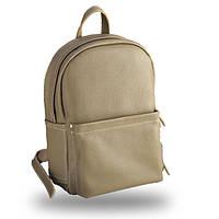 62318906c63a Повседневный женский кожаный рюкзак вместительный jizuz carbon beige Jizuz