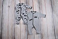 """Набор человечков """"Лес"""" для ребенка с 3 месяцев до 1 года (2 шт., размер 62, 68, 74, 80) ТМ MagBaby Серый"""