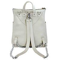 Оригинальный женский кожаный рюкзак + сумка 2в1 jizuz к-2 milk Jizuz