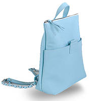 Кожаный женский рюкзак с ручками на карабинах jizuz к-2 aqua Jizuz