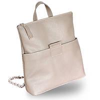 Женская кожаная сумка трансформер со съемными ручками jizuz к-2 biege Jizuz