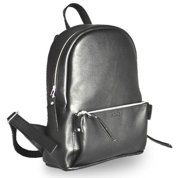 02ffa2f8afc3 Черный женский рюкзак из гладкой кожи pilot s black Jizuz - Omama. Интернет -магазин