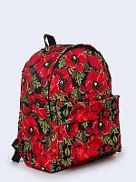 """Молодежный рюкзак с изображением цветов """"цветущие маки"""" Vilno"""