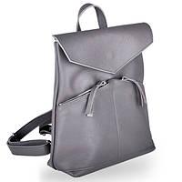 Женская кожаная сумка рюкзак balance dark grey Jizuz