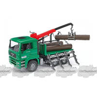 Bruder Игрушка - грузовик MAN, перевозчик брёвен с краном-погрузчиком, М1:16 (02769)