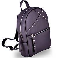 Современный женский кожаный рюкзак sakura dark grey Jizuz