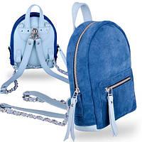 Оригинальный комбинированный рюкзак кожаный женский baby sport aqua mix Jizuz