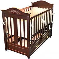 Деревянная кроватка классического дизайна leonardo (шоколад) Woodman