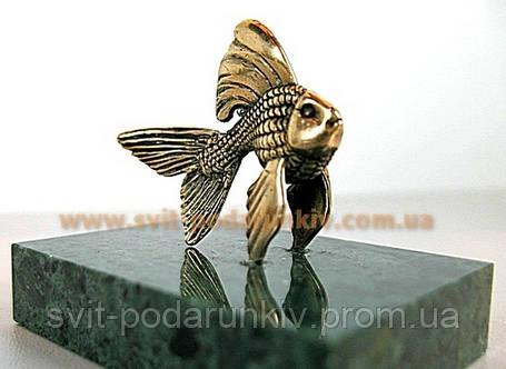 Изящный сувенир, бронзовая фигурка Рыбка, фото 2