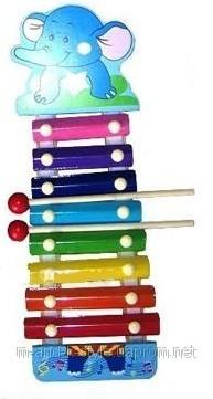 Ксилофон «Слоник» детская музыкальная игрушка.