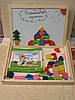 Доска магнитная (51 фигура + маркер), очень хорошего качества развивающая деревянная игрушка., фото 2