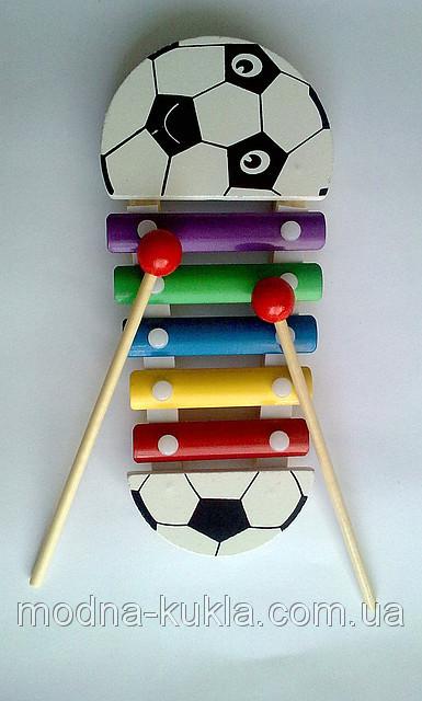 Ксилофон Мячик маленький на 5 тонов + 2 палочки