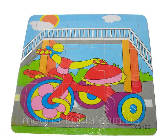 "Пазл ""велосипед"" 0406, ДЕРЕВО"