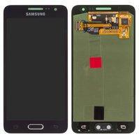 Дисплей для мобильных телефонов Samsung A300F Galaxy A3, A300H Galaxy A3; Samsung, черный, с сенсорным экраном, original, #GH97-16747B