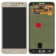 Дисплей для мобильных телефонов Samsung A300F Galaxy A3, A300H Galaxy A3; Samsung, золотистый, с сенсорным экраном, original, #GH97-16747F
