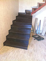 Деревянные лестницы с эфектом старения (с патиной)