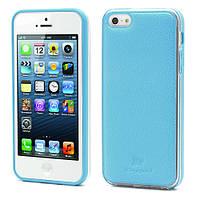 Чехол накладка Kingpad Leather Hard TPU iPhone SE 5S 5 голубой
