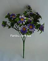 Искусственный куст ромашки с фиолетовыми цветами -пластик