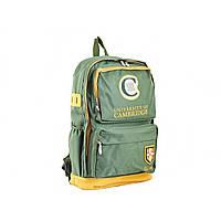 """Рюкзак """"Cambrdge"""" 4 відділення, 2 кишені, зелений 31 х46х14см №СА082/554134"""
