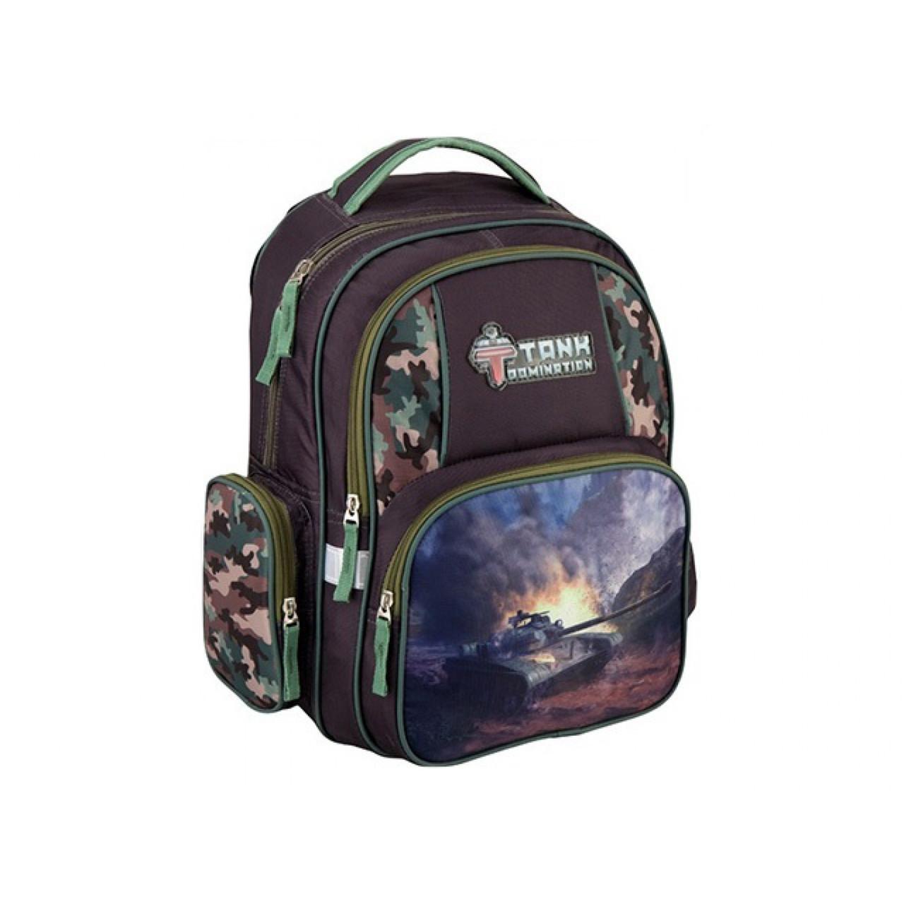 Рюкзак шкільний Kite Tanks Domination 3 відділення 2 кишені TD16-514S