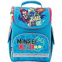 """Ранець каркасний """"Kite"""" Monster High 1 відділення, 3 кишені №MH17-501 S"""