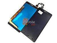 Дисплей для Lenovo Vibe P1m, P1mA40 (Дисплей + тачскрин), чёрный оригинал