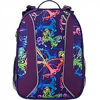 """Ранець каркасний """"Kite"""" Neon butterfly 2 відділення, 2 кишені №K17-703M-1"""