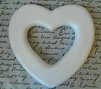 Пінопластове серце пл 25 см Пенопластовое сердце