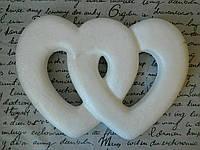 Пінопластове серце подвійне пл 28*20 Пенопластовое сердце двойное