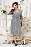 Нарядное  платье большого размера ТМ Минова размеры:52,54,56