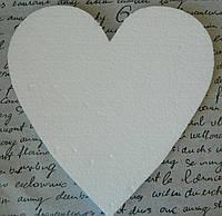 Пінопластове серце 25 см Пенопластовое сердце