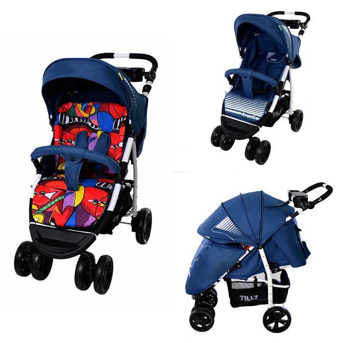 Коляска детская прогулочная TILLY Avanti T-1406 Blue с матрасиком - Интернет магазин  ТОРГОВАЯ ЛАВКА в Черкассах