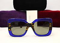 Женские солнцезащитные очки Gucci GG 0083/S (Цвет синий -лео)