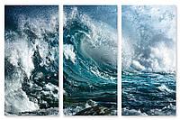 Модульная картина высокая волна 3д