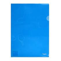 Папка-уголок, А4 Axent 1401 синий 180 микрон