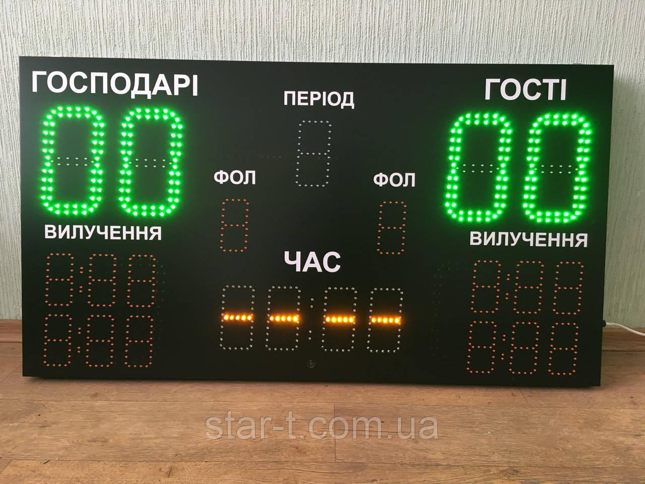 Светодиодное спортивное табло для футзала