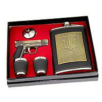Подарочная Фляга и пистолет зажигалка TZ-13
