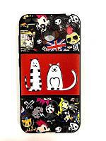 Чехол Unipa Fashion Case Xiaomi Redmi 4x Cat Anime Black V2
