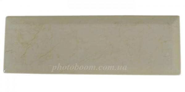 Плитка сувенирная мраморная 10*30 см с бортиком